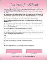 Child Contract for School